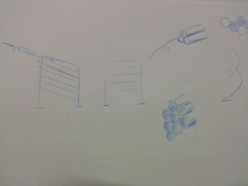 存伞架设计草图