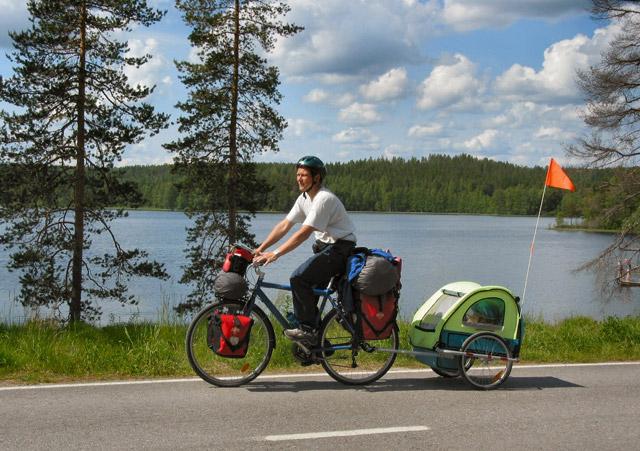 芬兰自行车后小拖车